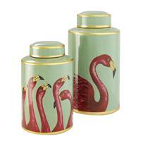Krukke Flamingo, sett à 2