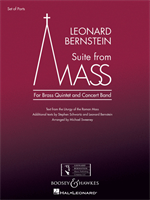 SUITE FROM MASS - FOR BRASS QUINTET & CONCERT BAND