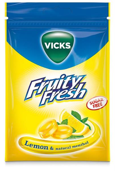 Vicks Fruity Fresh Lemon sockerfri
