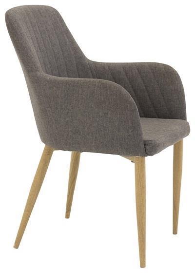 Comfort karmstol grå/ek-look