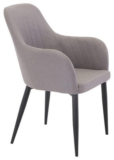 Comfort karmstol grå/svart