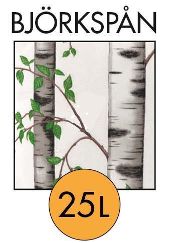 Rökspån Björk 2-4mm. 25 ltr torrt björkspån. Stor röksmak ger produkten en mörkbrun färg  Välj mängd