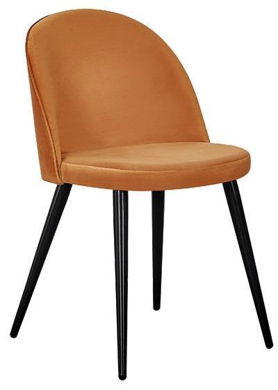 Velvet matstol rost/svart