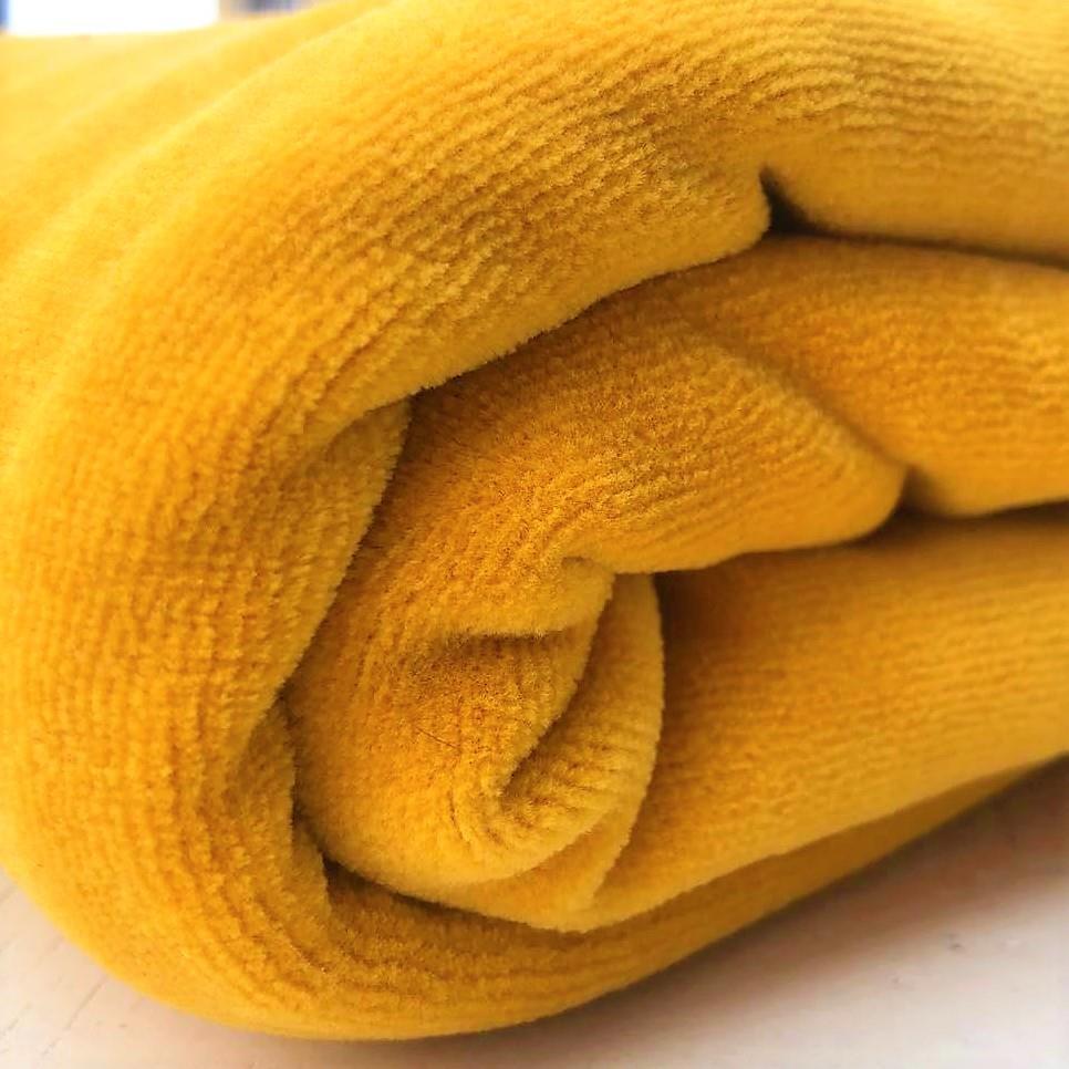 Velour kraftig gul