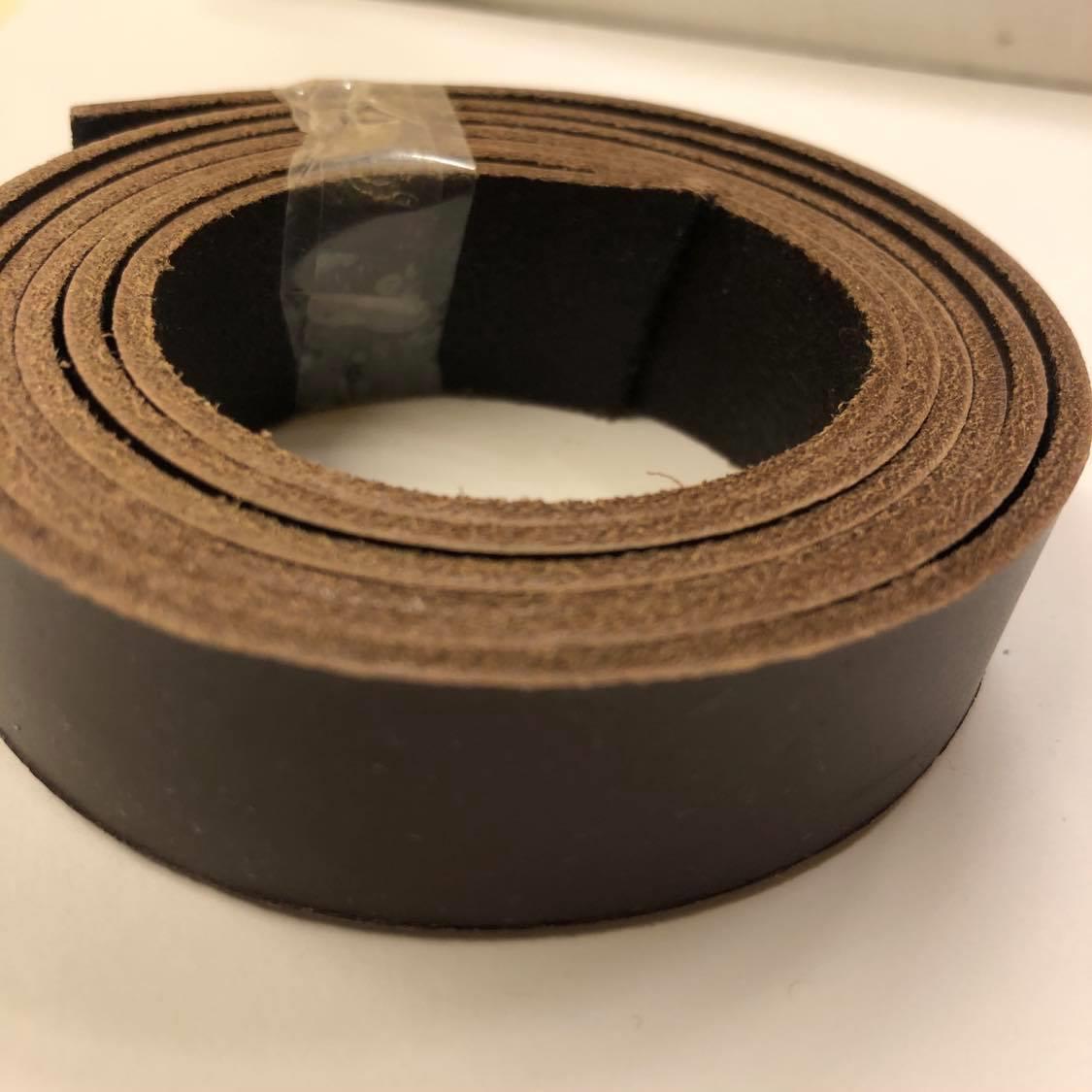 Skinnreim, brun, 2cm x 120 cm