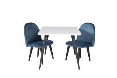 Velvet stol XXS blå sammet