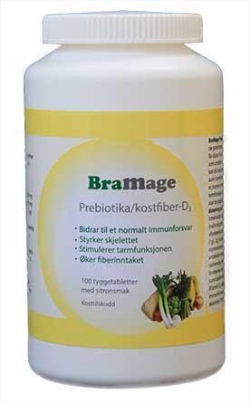 BraMage Prebiotika/kostfiber-D3
