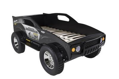 Unlimited Speed Jeep säng svart