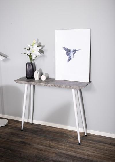 Edge avlastningsbord betong-look/vit