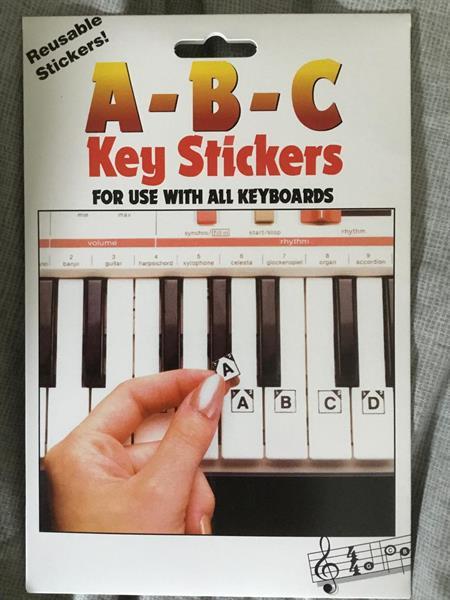 A-B-C KEY STICKERS