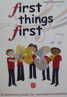 FIRST THINGS FIRST - PIANO ACC - VOL 1