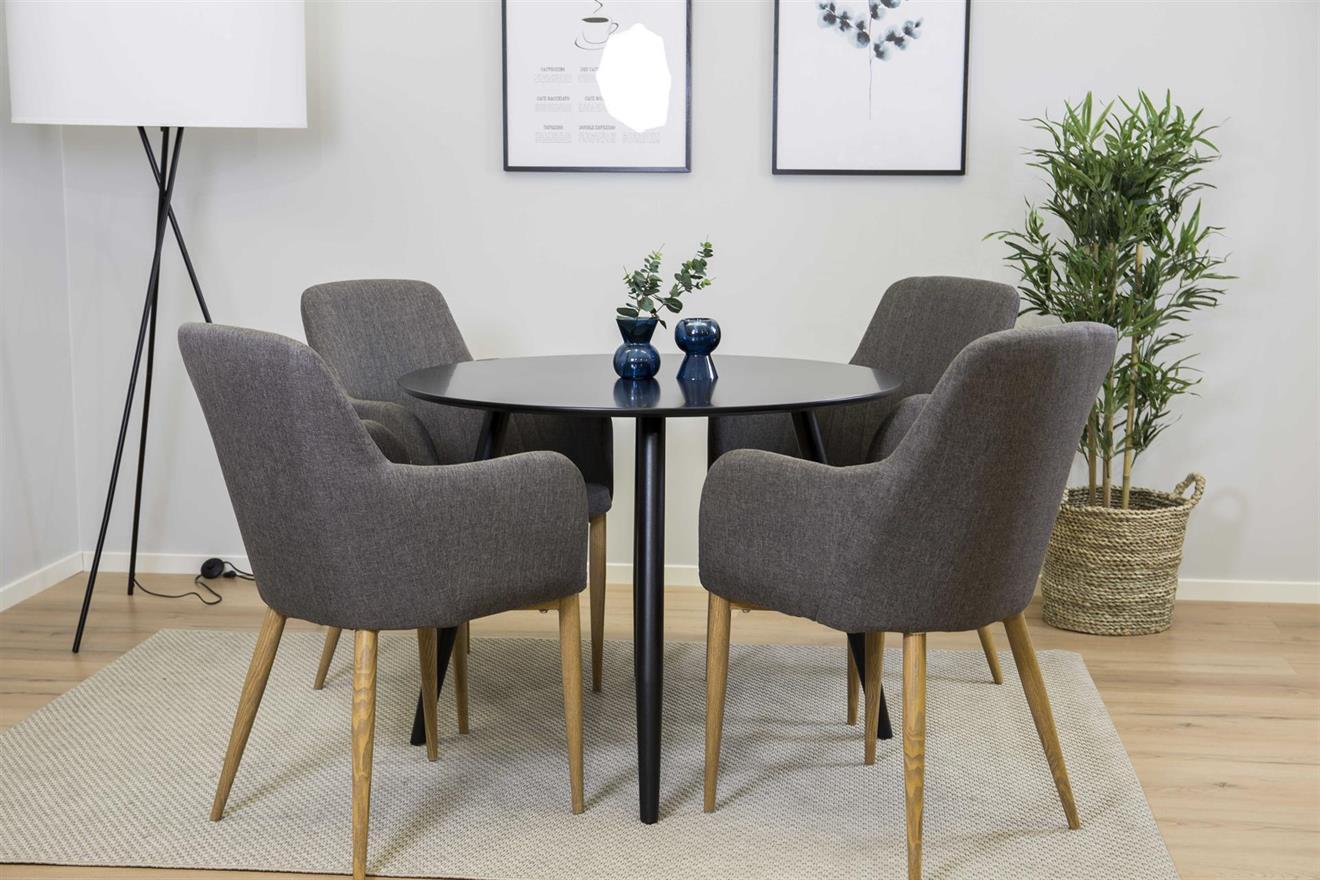 Plaza matbord och 4 st Comfort matstolar