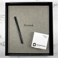 Hyttebok i Record Grå med sort skrift