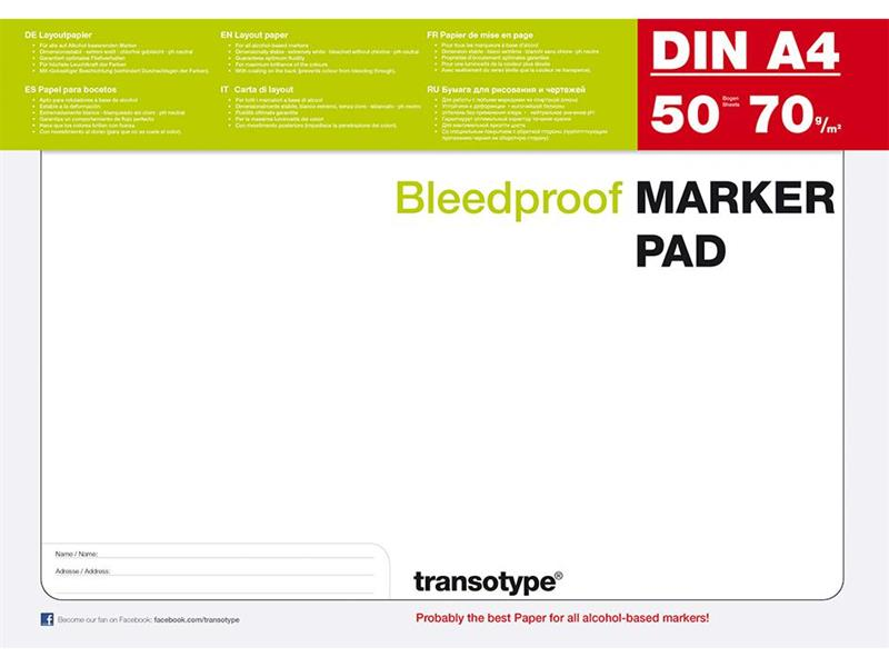COPIC MARKER PAD A4 - 70G - 50 ARK BLEEDPROOF