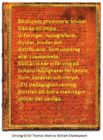 Omslag till Sir Thomas More, William Shakespeare