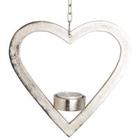 Hjerte til telys henge metall