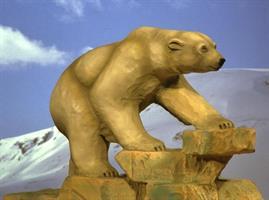 Gåande isbjørn, farga