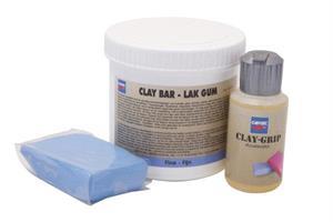 Puhdistussavi, sininen - Claybar Fine/Blue (with clay grip)