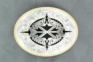 Oval aztec buckle