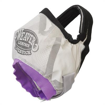 CATTLE FLY MASK, GRAY/PURPLE