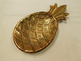 Skål Ananas Antikk Gull 30 cm