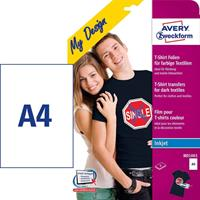 Avery T-shirt transfer Mörk A4
