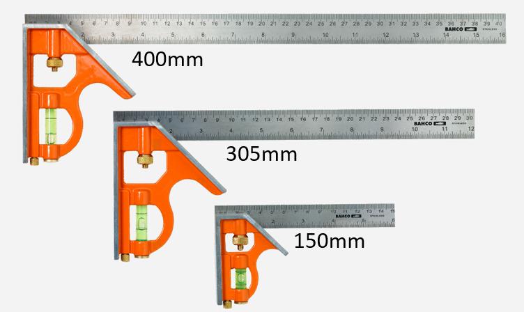 Skjutbar kombinationsvinkel 150mm