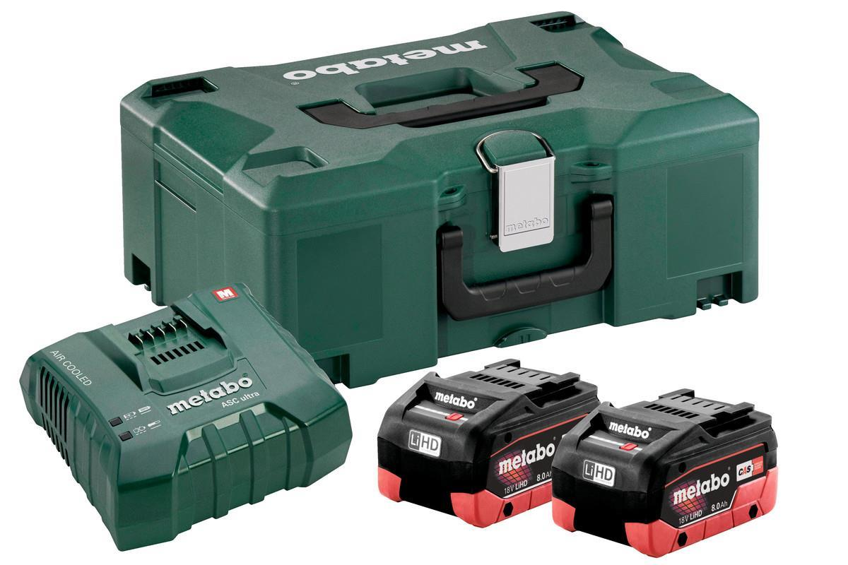 Metabo Batterikit 18v 2x8Ah + laddare