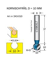 Kornischfräs D=10, L=10mm