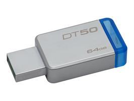 Kingston DT50 64GB USB 3.1 Metal/Blue