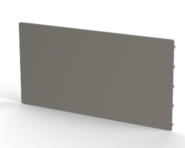 Ryggplåt slät 900x450mm