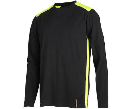T-Shirt Svart/Hi-Vis Lång Ärm