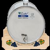 Horisontal tank i størrelse 12, 16, 30 og 50 liter med stativ i tre