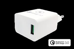 Vägguttag 1-USB port Snabbladdning QC 3.0
