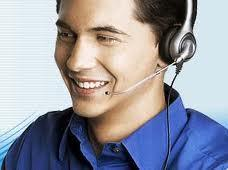 Mann med headset