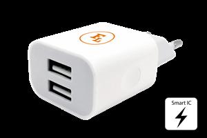 Vägguttag 2-USB port 230V