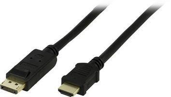 DisplayPort till HDMI kabel 3m L/B