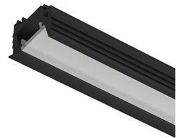 LED- profil Alu 1106 Svart 10mmx16mm