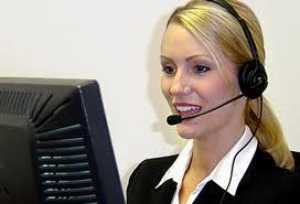 Dame med headset