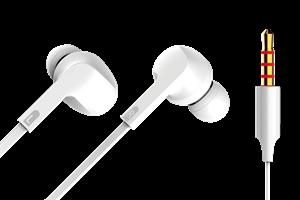 In-ear Hörlur med sladd 3,5mm Vit
