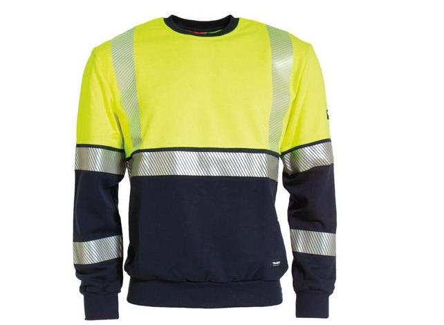 Tranemo Sweatshirt Gul/Marin, Flamskydd stl XXS