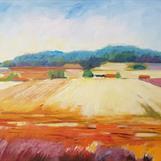 """Skördetid"", oil on canvas, 60x90 cm, Christine Friman"