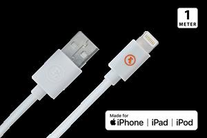 MFI/Apple Laddkabel 1M Vit