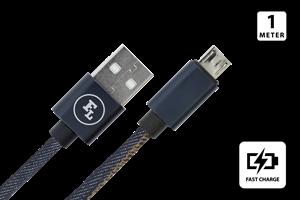 Micro USB Laddkabel 1M Jeans
