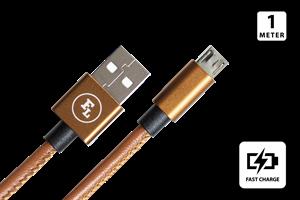 Micro USB Laddkabel 1M Läder