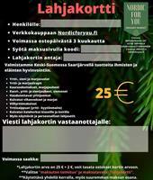 Nordicforyou -lahjakortti 25 €