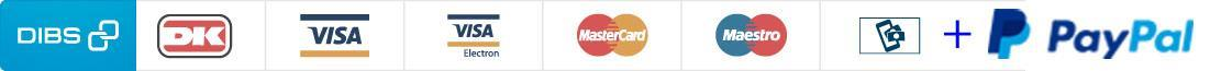 Pay securely with VISA, VISA Electron, MasterCard, Maestro & MobilePay Online