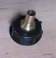 IBC adapter 60x6(T1), med Ø19mm studs, Messing