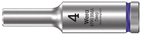 """Wera Långhylsa 1/4"""" 4x50mm"""