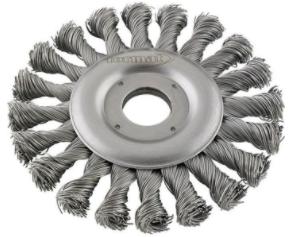 Cirkulärborste Svart 125mm Tvinnad